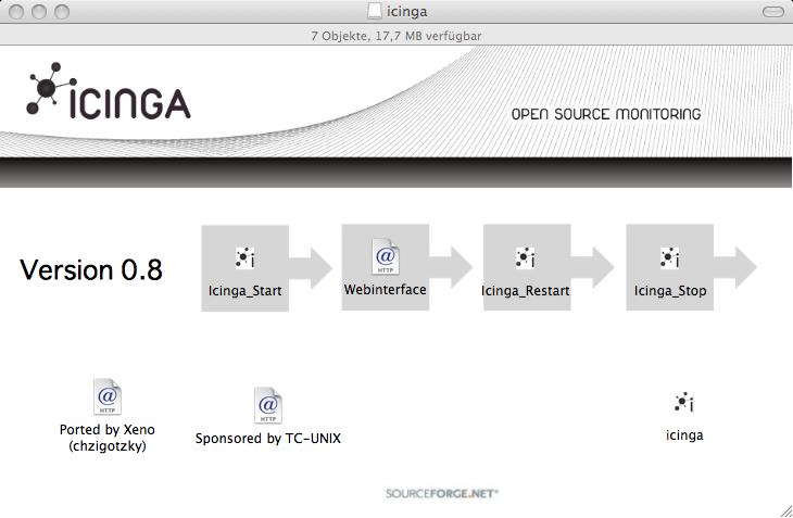 Icinga und Nagios für OS X und Linux-PPC mit integrierten