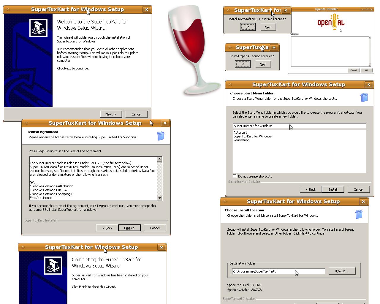 supertuxkart.de - SuperTuxKart Windows- und Wine-Screenshots
