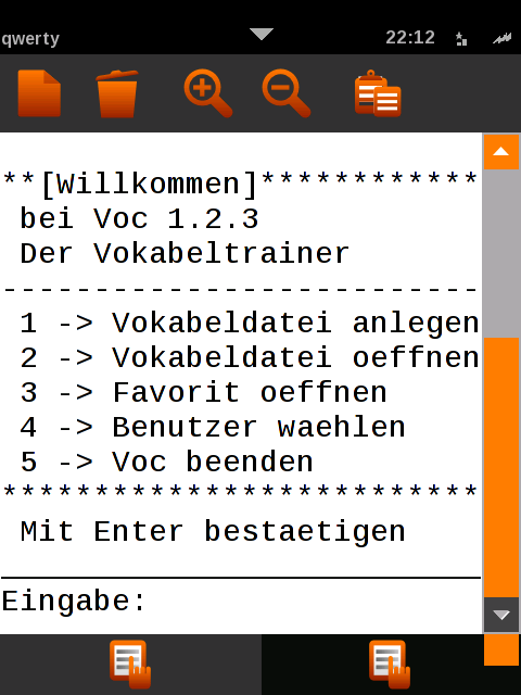 Screenshot von Voc