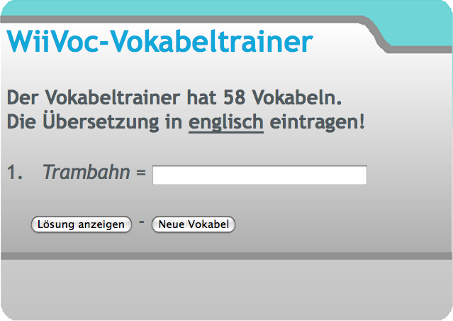 Screenshot von Webvoc